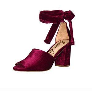 Red velvet Sam Edelman Odele heels